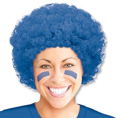 Парик кудрявый синий
