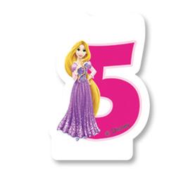 Свеча-цифра 5 Принцессы 6 см