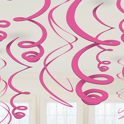 Спираль 46 - 60 Ярко-розовые 12 штук