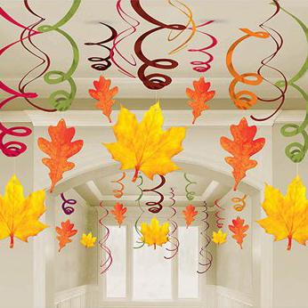 Спираль 46-60 см Осенние листья 30 штук