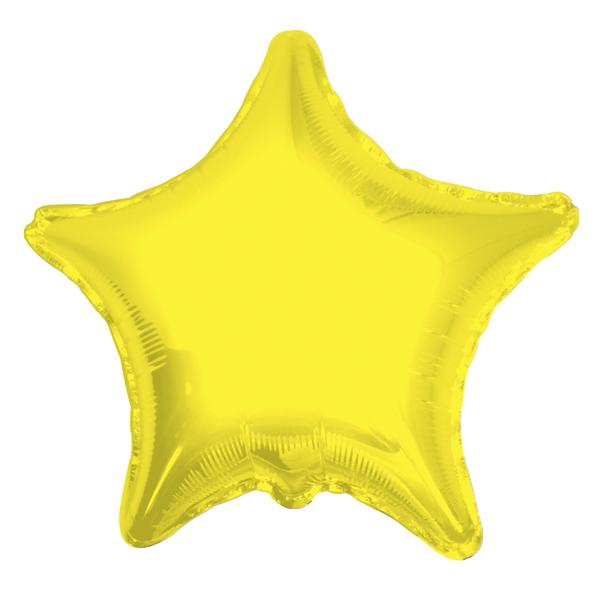 Шар 46 см Звезда Желтый