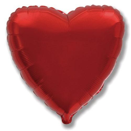 Шар 46 см Сердце Бургундия