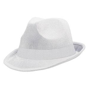 Шляпа-федора велюр Белая