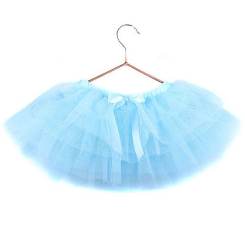 Юбка-пачка для малышей 25 см голубая