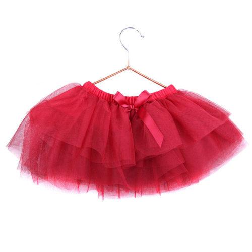 Юбка-пачка для малышей 25 см красная
