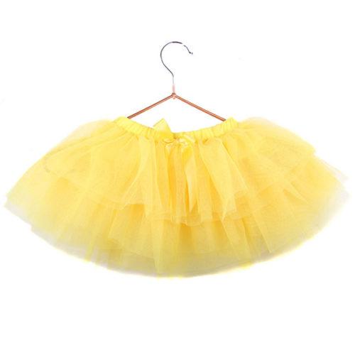 Юбка-пачка для малышей 25 см лимонная