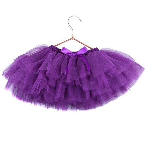 Юбка-пачка для малышей 25 см фиолетовая