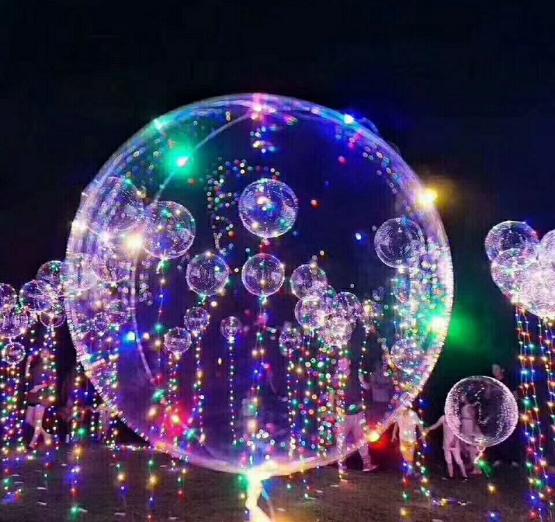 Шар 60 см Сфера 3D Deco Bubble с подсветкой 1 штука