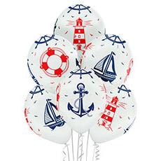 Связка шаров Морская 6 штук