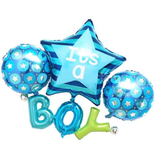 Шар 185 см Фигура Набор Boy Голубой с воздухом