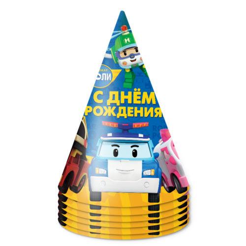 Колпаки Робокар Поли и друзья 6 шт