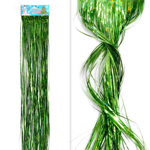 Гирлянда Дождик Зеленыйголографический 0,5 м
