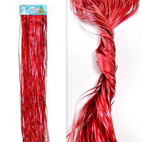 Гирлянда Дождик Красный 4-х слойные 0,5 м