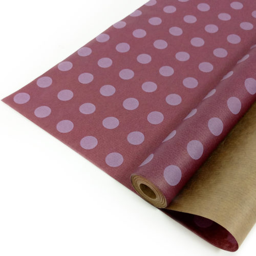 Упаковочная бумага Крафт 40гр 0,72 х 10 м Круги на сиреневом