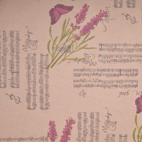 Упаковочная бумага Крафт 40гр 0,72 х 10 м Лаванда блюз
