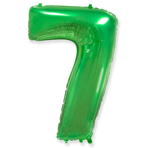 Шар 102 см Цифра 7 Зеленый
