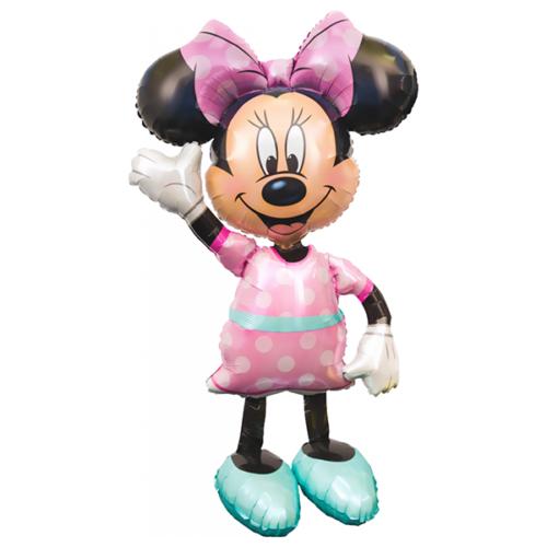 Шар 137 см Ходячая Фигура Минни розовое платье