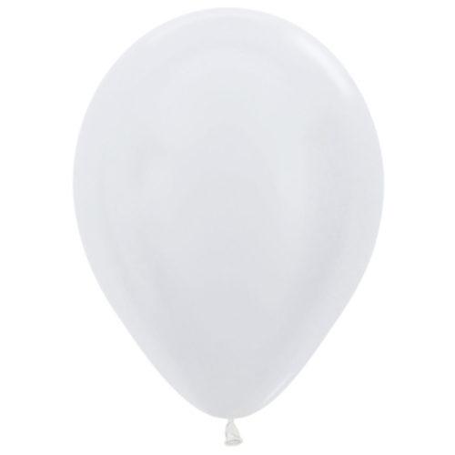 Шар 30 см перламутр Белый 405