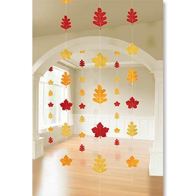 Гирлянда вертикальная Осенние листья 2,1м 6 шт