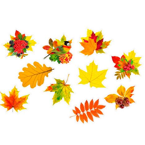 Набор наклеек силиконовых 15 х 15 см Осенние 10 штук