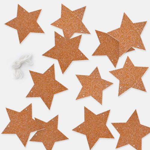 Подвеска Звезды Бронза Розовое золото