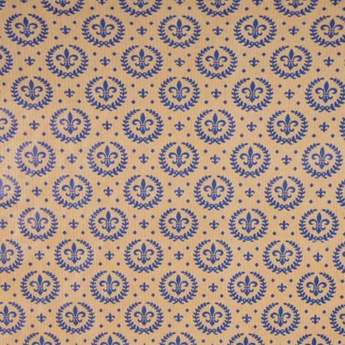 Упаковочная бумага крафт 0,7 х 10 м Королевская лилия
