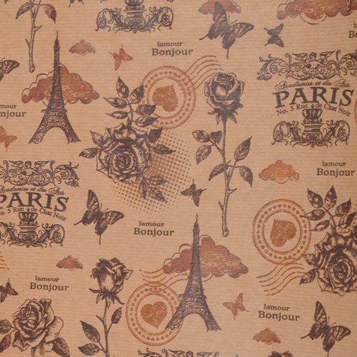 Упаковочная бумага крафт 0,7 х 10 м Париж