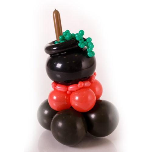 Фигура из воздушных шаров Котел ведьмы