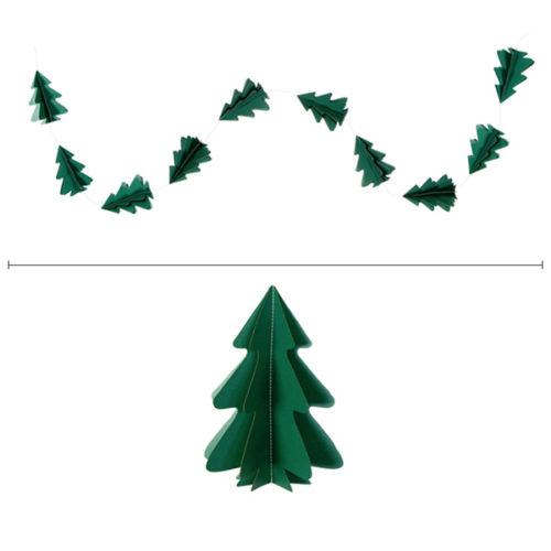 Гирлянда вертикальная Елки 2,5 м 12,5-9 см темно-зеленый