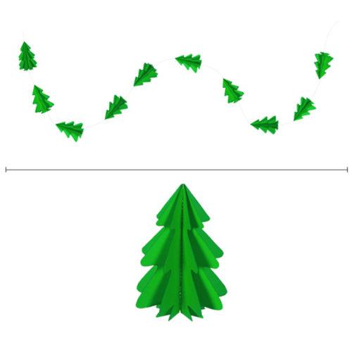 Гирлянда вертикальная Елки 2,5 м 12,5-9 см ярко-зеленый