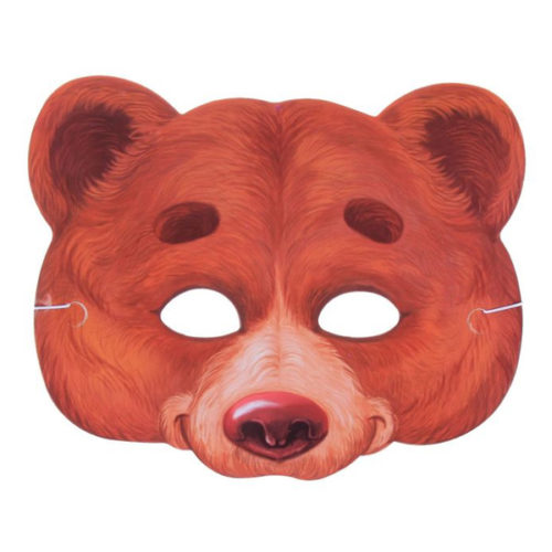 Маска бумажная Медведь 24 х 19 см