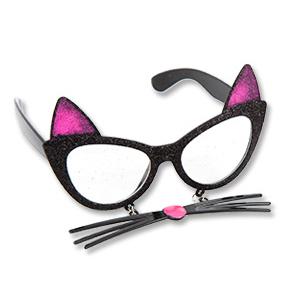 Очки Кошка с усами черные