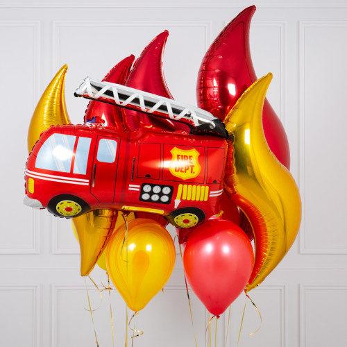 Связка из шаров Ассорти Пожар