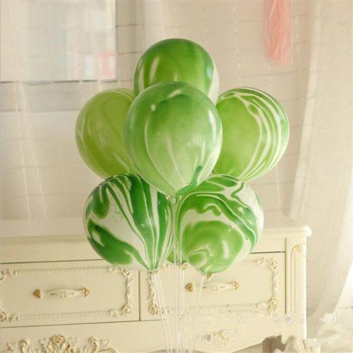 Связка из 7 шаров Мрамор Зеленый