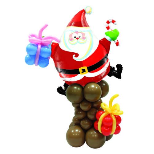 Стойка ростовая из шаров Дед Мороз с подарками