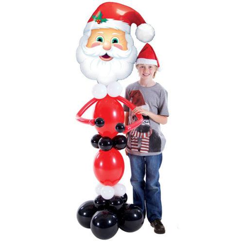 Стойка ростовая из шаров Дед Мороз
