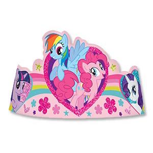 Тиара My Little Pony бумажная 8 штук