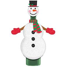 Украшение для бутылки Снеговик текстиль