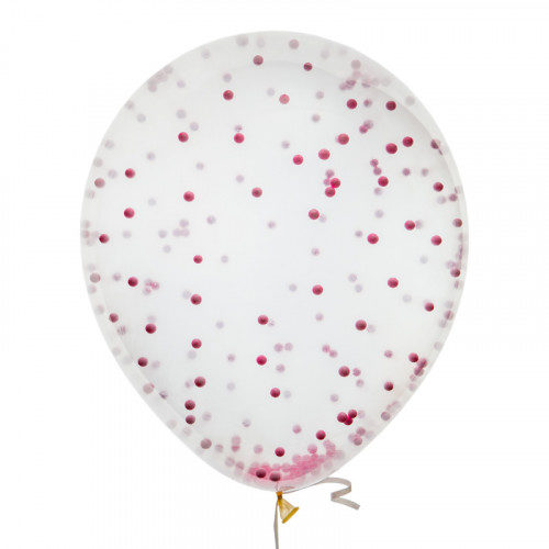 Шар 30 см Конфетти Шарики 3D Розовый