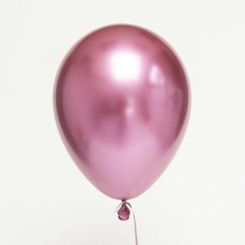 Шар 30 см Хром Розовый