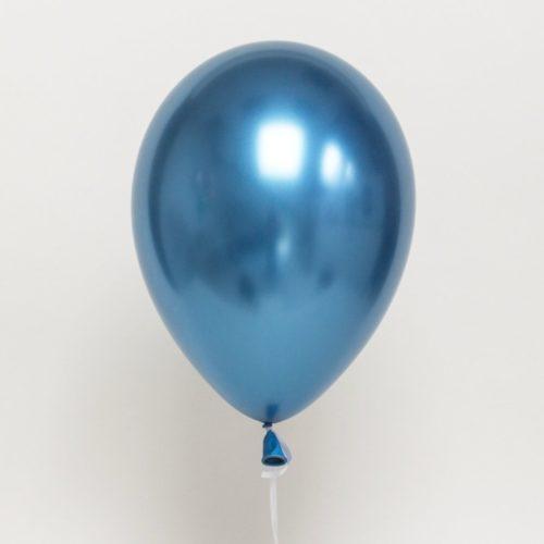 Шар 30 см Хром Синий
