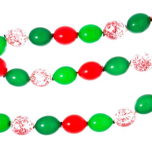 Гирлянда простая из шаров с воздухом Красный и Зеленый