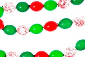 Гирлянды простые из шаров с воздухом НГ
