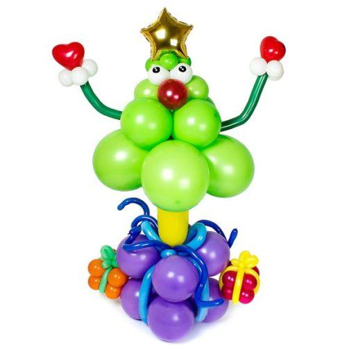 Елочка на Подарках из воздушных шаров