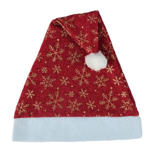 Колпак новогодний Снежное чудо красный 28 х 38 см