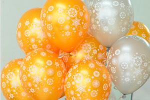 Круглые шары с Гелием на Новый год