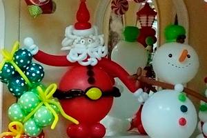 Фигуры из шаров на Новый год