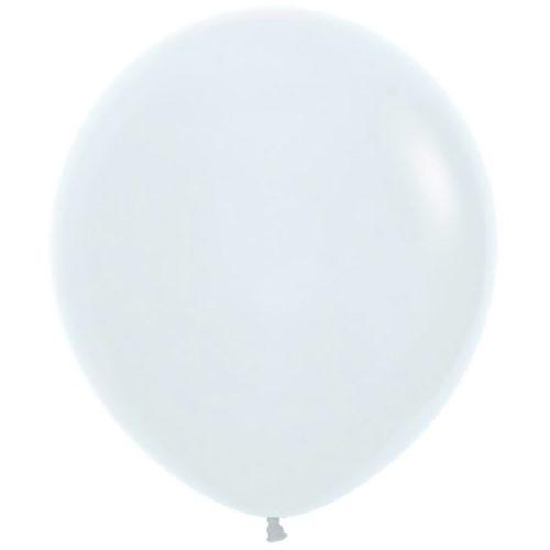 Шар 46 см Белый Пастель