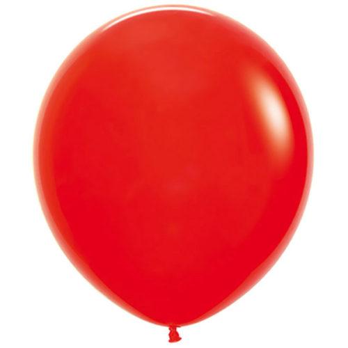 Шар 46 см Красный Пастель