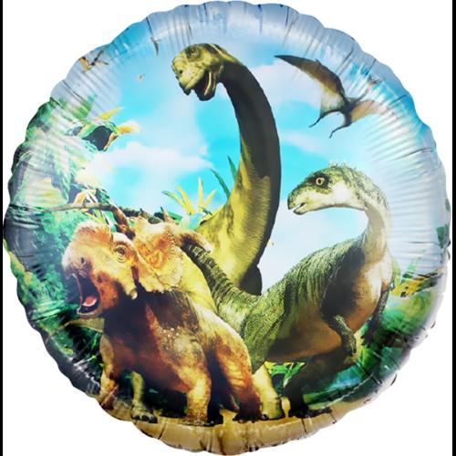 Шар 46 см Круг Динозавры Юрского периода
